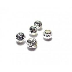 Perle à facettes 3mm Argent 925
