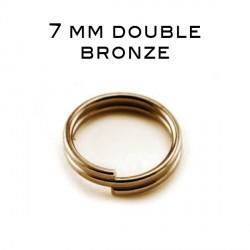 Anneaux doubles 7 MM bronze
