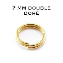 Anneaux doubles 7 MM doré