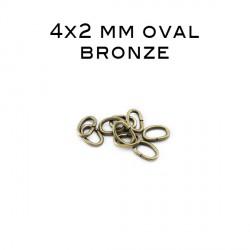 Anneau oval ouvert 4 x 2 MM bronze