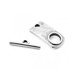 Fermoirs T 2 pièces métal 32x16mm