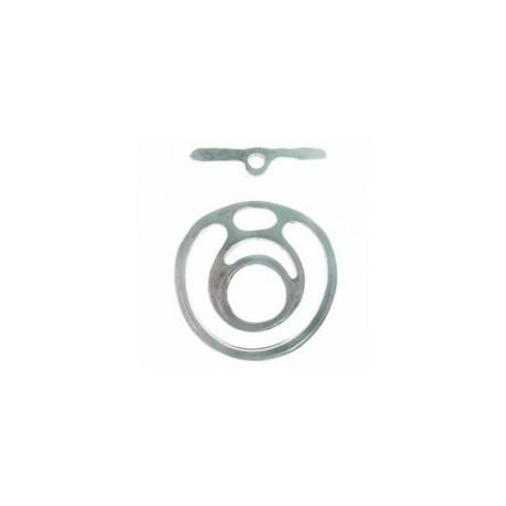 Fermoir T 2 parties 35x32mm