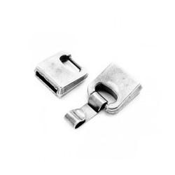 Fermoir plat métal 10x2.5mm + clip 5mm