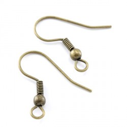 Boucles d'oreilles crochet simple 18 MM bronze