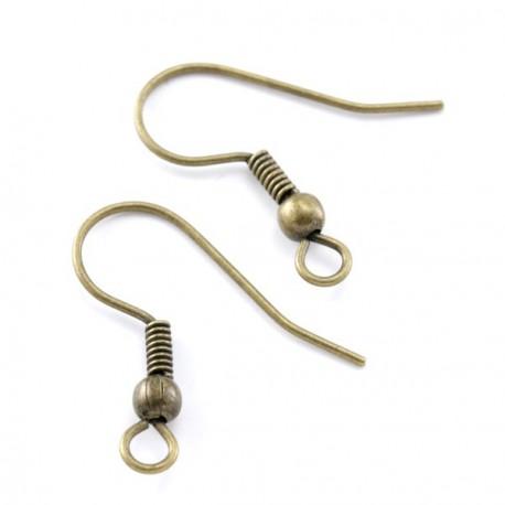 Boucles d'oreilles crochet simple 18 MM bronze