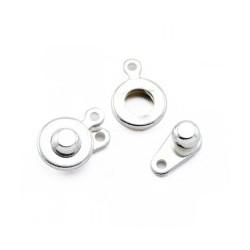 Fermoir pression métal 13x7mm