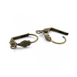 Boucles d'oreilles dormeuse 18x10 MM bronze