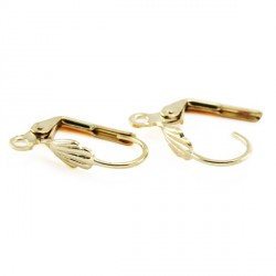 Boucles d'oreilles dormeuse 18x10 MM doré