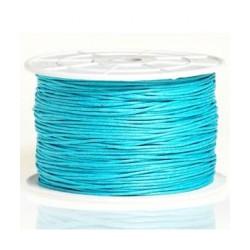 Coton ciré 2mm turquoise