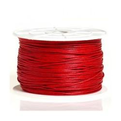 Coton ciré 2mm rouge