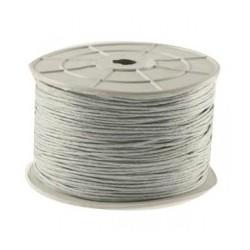 Coton ciré 2mm gris clair