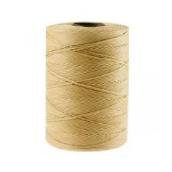 Coton ciré plat 1mm beige