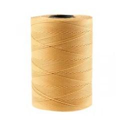 Coton ciré plat 1mm brun clair