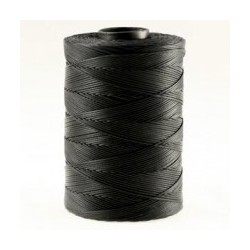 Coton ciré plat 1mm noir