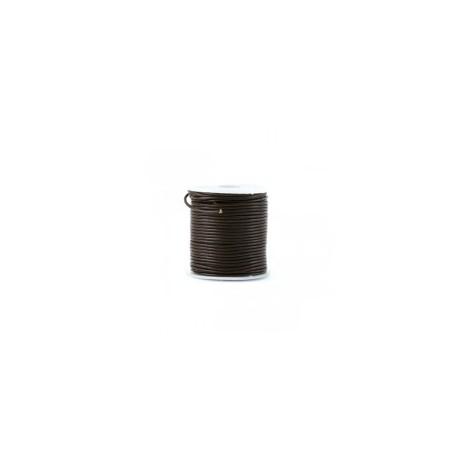 Cordon cuir rond 1.5mm Naturel / noir / chocolat / orange / jaune ...