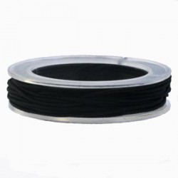Elastique 1mm noir