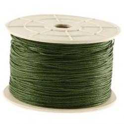 Coton ciré 1MM vert chasseur