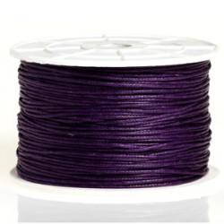 Coton ciré 1MM violet foncé