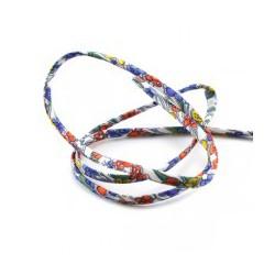 Liberty Jennie blanc fleurs bleu/rouge/jaune