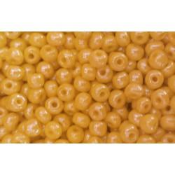 Rocaille jaune opaque lustré