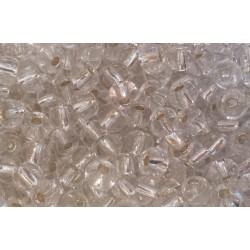 Rocaille transparente interieur agenté opaque