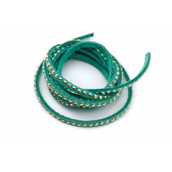 Suédine strass 3mm Turquoise