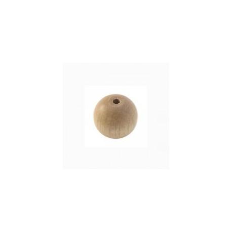 Perles bois 12 mm beige