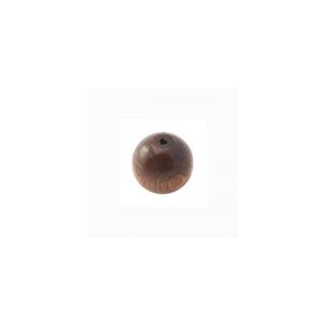 Perles bois 12 mm brun foncé
