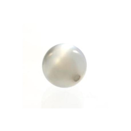 Perle Polaris 10mm gris clair brillant