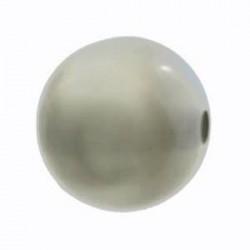 Perle Polaris 14mm gris foncé brillant