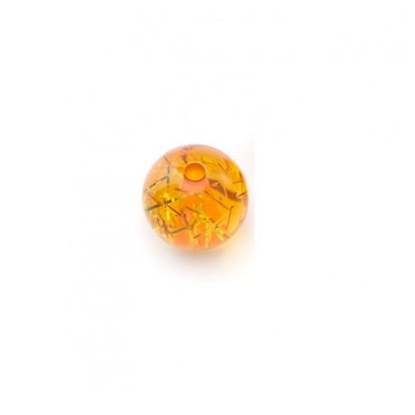 Perle Polaris 10mm filigrane orange