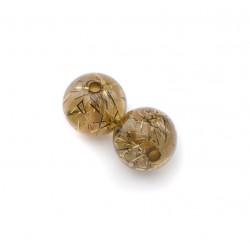 Perle Polaris 10mm filigrane taupe