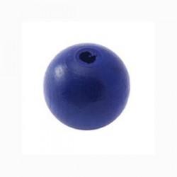 Perles bois 15mm bleu foncé