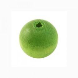 Perles bois 15mm vert