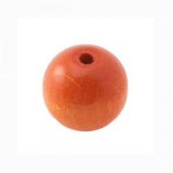 Perles bois 15mm orange