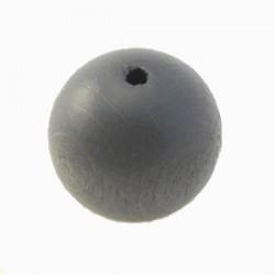 Perles bois 20mm gris foncé