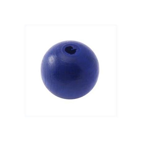 Perles bois 20mm bleu foncé
