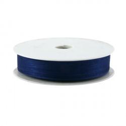 Rubran Organza 1cm bleu marine