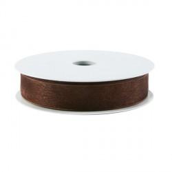 Rubran Organza 1cm chocolat