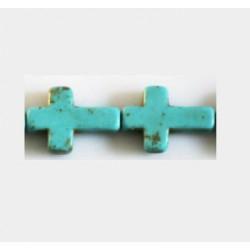 Perle croix Howlite 12x16mm multi