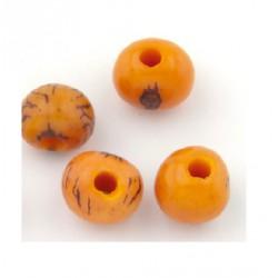 Perle Açaï orange (environ 10mm)