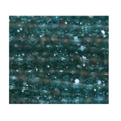 Perle cristal 3mm facette aigue-marine