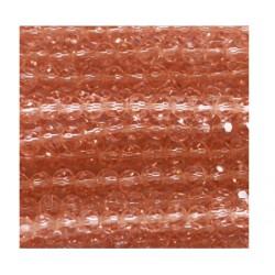 Perle cristal 4mm facette rose