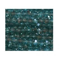 Perle cristal 4mm facette aigue-marine